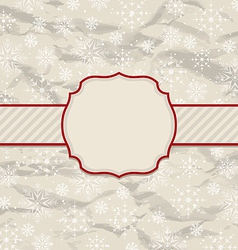 Old vintage invitation with snowflakes vector image vector image