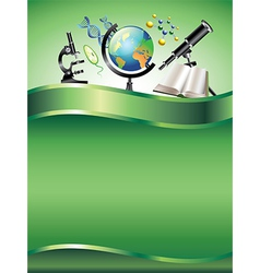 science vertical background vector image vector image