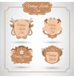 Set with vintage label vector image vector image