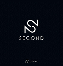 white letter s and double number 2 logo concept vector image