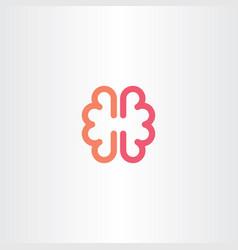brain icon symbol design element vector image
