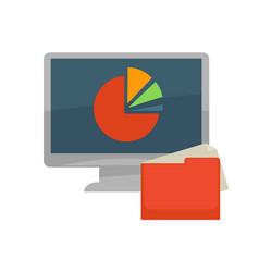 internet program files and folder flat vector image vector image