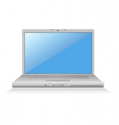 laptop blue screen vector image vector image
