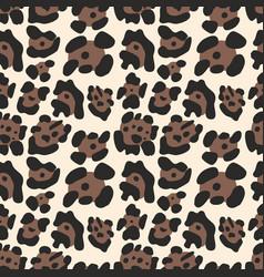 Leopard pattern seamless background vector