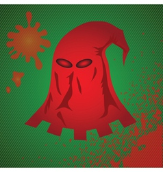 red mask vector image vector image
