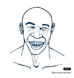 Smiling man vector image