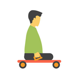 transport trolley for disabled footless person vector image