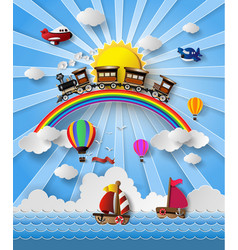 travel transportation vector image vector image