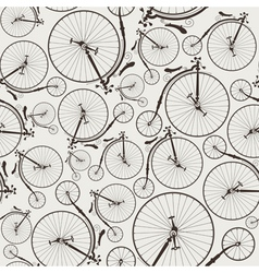vintage bicycle seamless vector image vector image