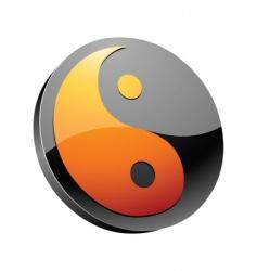 yin-yang symbol vector image vector image