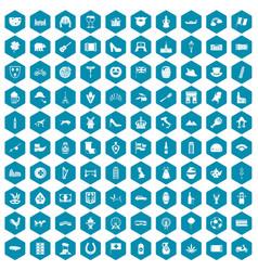 100 europe icons sapphirine violet vector