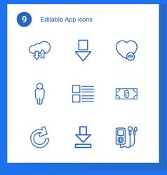 9 app icons vector