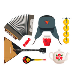 Accordion and balalaika set vector