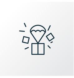Air drop icon line symbol premium quality vector