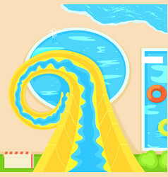 aquapark descent from a hill vector image