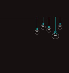 Background drawings light bulbs vector