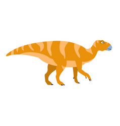 Birdlike beak orange dinosaur of jurassic period vector