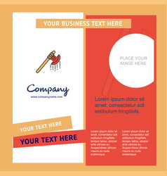 Bloody axe company brochure template busienss vector