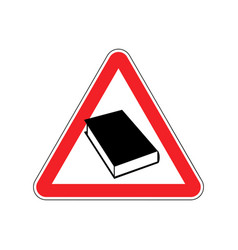 book warning sign yellow reading hazard attention vector image