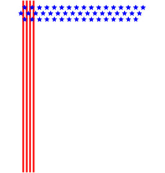 brochure frame design with american symbols vector image