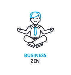 Business zen concept outline icon linear sign vector