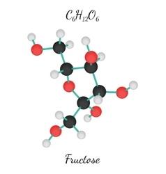 C6H12O6 Fructose molecule vector image