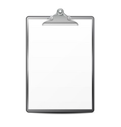 Clipboard with paper blank sheet of paper vector