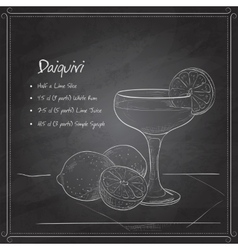 Cocktail daiquiri on black board vector