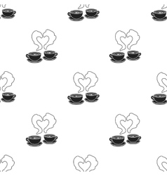 Coffee icon in black style isolated on white vector