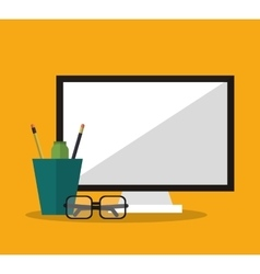 Computer and Worktime design vector