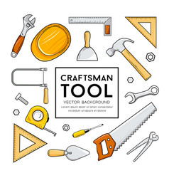 craftsman tool collection isolated design vector image