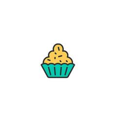 cupcake icon design gastronomy icon design vector image
