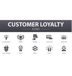 Customer loyalty simple concept icons set vector