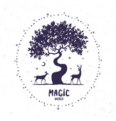 Deer magic vector