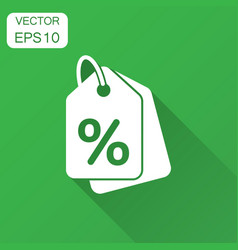 Discount shopping tag icon in flat style discount vector
