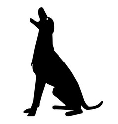 Dog barking silhouette icon eps vector