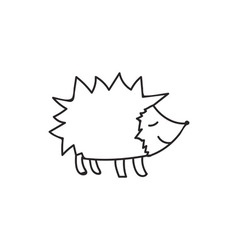 Doodle hedgehog animal icon vector image