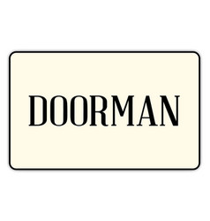 Doorman vector