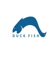 duck and fish concept design template for vector image