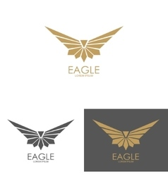 eagle mark isolated on white background vector image