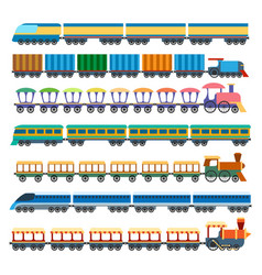 education trains set vector image