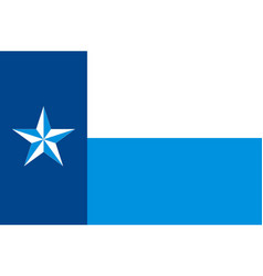 Flag of dallas county in texas in united states vector