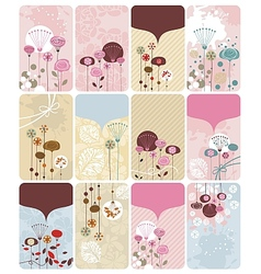 Floral Gift Cards Collection vector image