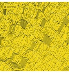 Grid Background 3d vector