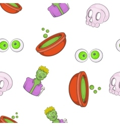 Halloween elements pattern cartoon style vector image