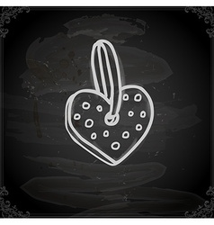 Hand Drawn Heart Decoration vector image