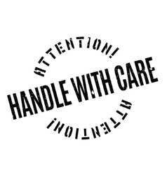 Handle With Care rubber stamp vector