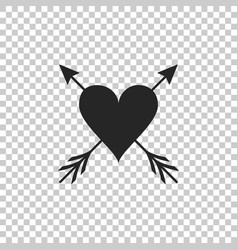 heart with arrow icon isolated on transparent vector image