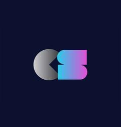 initial alphabet letter cs c s logo company icon vector image