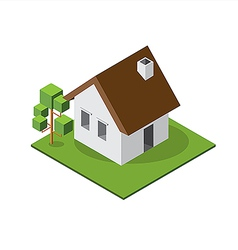 Isometric Small House 380 vector image